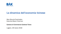La dinamica dell'economia ticinese